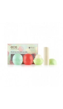 EOS Smooth Lip Balm 4-PackSphere (mint, fruit, honeysuckle) + Stick (vanilla)