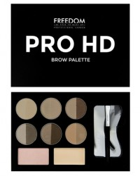 Набор для бровей Pro HD Brow Palette Fair Medium Freedom Makeup