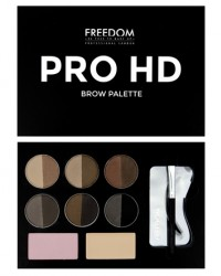 Набор для бровей Pro HD Brow Palette Medium Dark Freedom Makeup