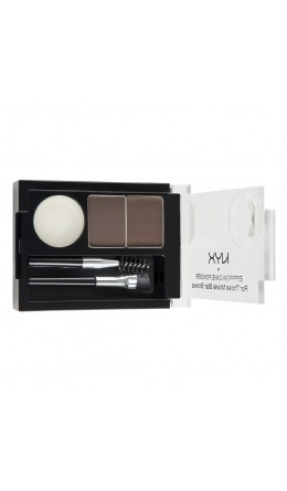 Набор теней для бровей DARK BROWN/ BROWN EYEBROW CAKE POWDER NYX