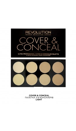 Корректоры Ultra Cover and Conceal Palette Light Makeup Revolution