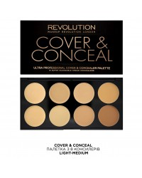 Корректоры Ultra Cover and Conceal Palette Light-Medium Makeup Revolution