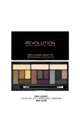 Палетка теней Pro Looks Big Love Makeup Revolution