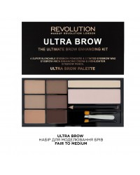 Набор для бровей Ultra Brow Fair to Medium Makeup Revolution