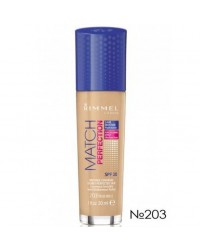 Тональный крем Rimmel Match & Perfect Foundation №203
