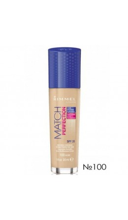 Тональный крем Rimmel Match & Perfect Foundation №100